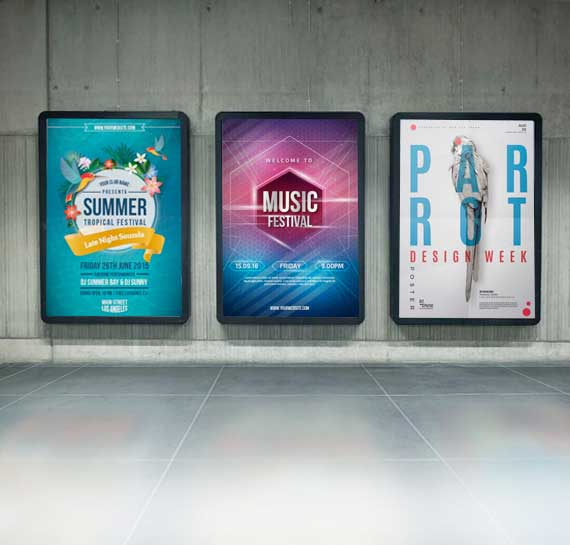Backlit Film Posters