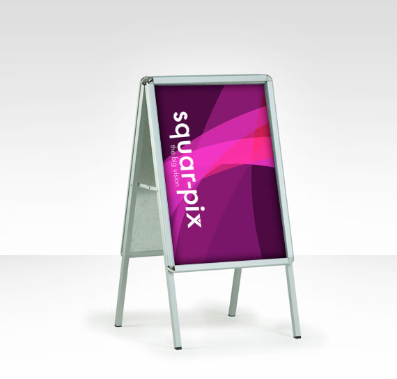 Print Sidewalk Signs | Wheeled snap Sign | A Frame Sign from Squar-Pix